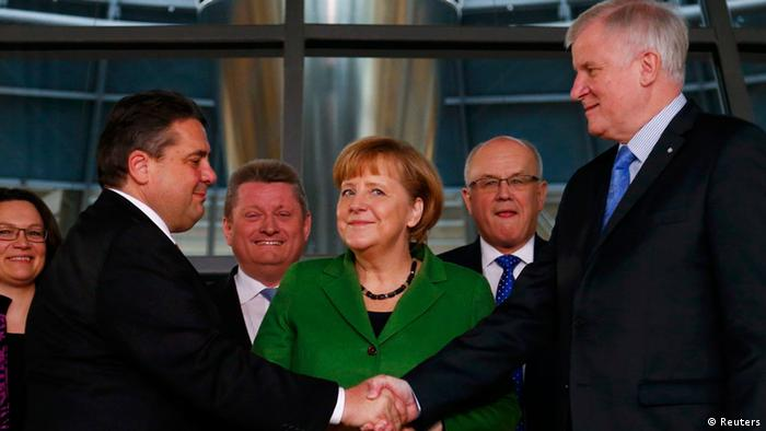 Grand coalition CDU and SPD 27. Nov. 2013 Germany (Reuters)