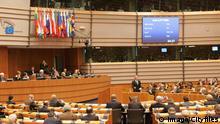 Sitzungssaal im Europaparlament Brüssel