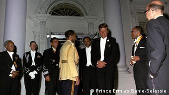 Kaiser Haile Selassie von Äthiopien und John F. Kennedy 1963