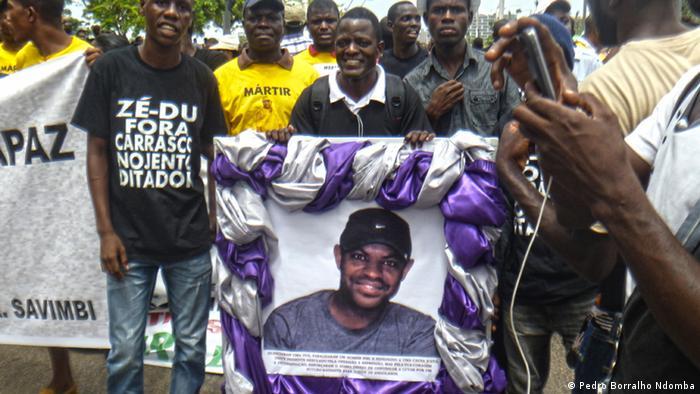 Luanda Angola Afrika Beerdigung Repression Demonstration
