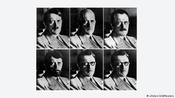 Adolf Hitler *20.04.1889-30.04.1945+ Politiker, NSDAP, D sechs Porträtvarianten, die der amerikanische Maskenbildner Eddie Senz für den US-Geheimdienst angefertigt hatte, um im Falle einer Flucht Vorlagen für Steckbriefe zu haben - undatiert ! Aufnahmezeitraum-/datum: 20.04.1889 Urhebervermerk: ullstein bild - Reuters