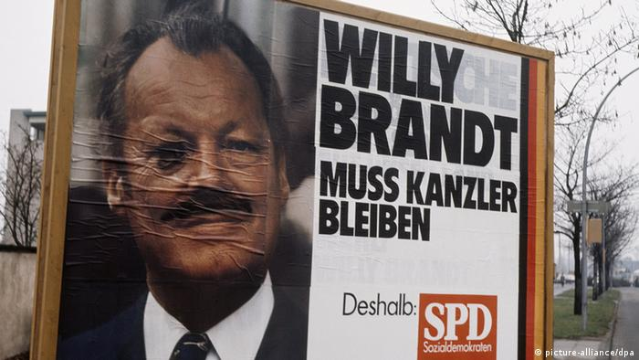 Willy Brandt poster in 1972