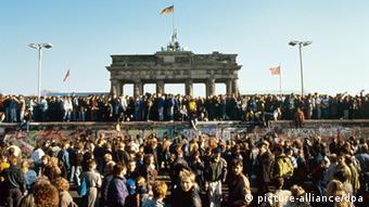 Celebraciones por la caída del Muro de Berlín (1989).
