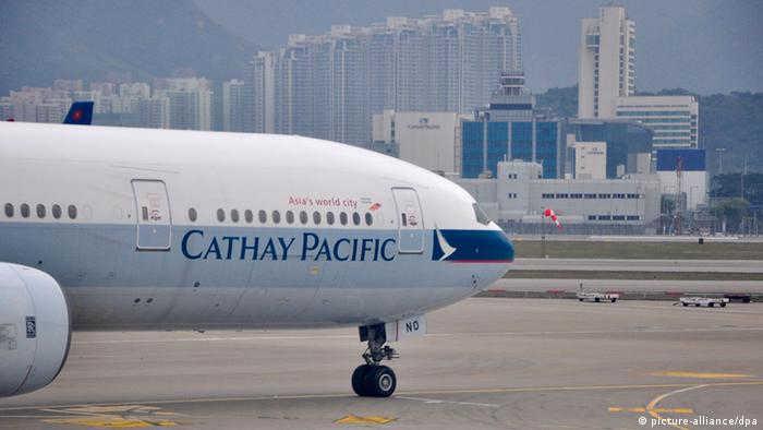 Bildergalerie Airlines Logo Cathay Pacific Airways (picture-alliance/dpa)
