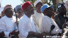 Auf dem Bild: Menschen Protestieren in Abuja, Nigeria gegen Wahlfälschung. Foto: Uwais Abubakar Idris / DW am 28.11.2013.