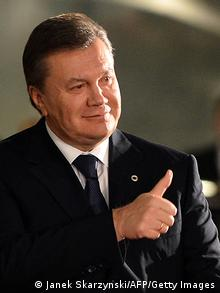 Ukrainian President Viktor Yanukovych arrives for a working dinner at the begining of Eastern Partnership summit in Vilnius on November 28, 2013. An EU summit designed to draw six ex-Soviet states to the West opens with its ambitions dented Thursday after Ukraine, the biggest of the six, caved into Moscow to hand Europe a mighty 'Nyet'. AFP PHOTO/JANEK SKARZYNSKI (Photo credit should read JANEK SKARZYNSKI/AFP/Getty Images)