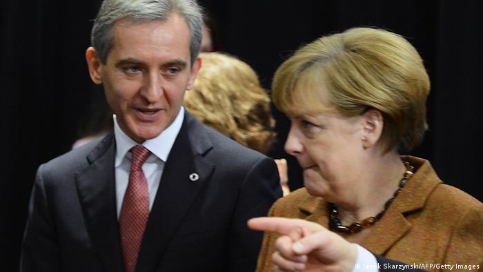 Iurie Leancă şi Angela Merkel la Vilnius, la semnarea acordului de asociere a Moldovei cu UE