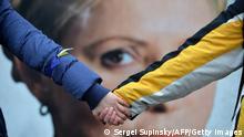 Demonstration für die EU-Annäherung der Ukraine in Kiew, Ukraine