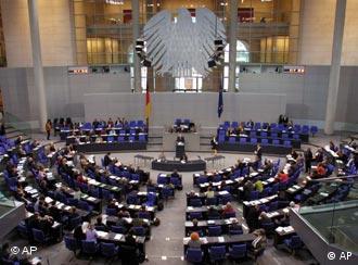 El Bundestag (Cámara baja del Parlamento).