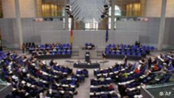The Bundestag - the German lower house of parliament
