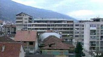 Tetovo,eine Stadt in Mazedonien,Panorama
