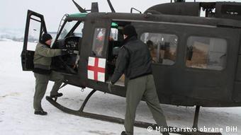 Soldaten Bosnien Herzegowina Hubschrauber