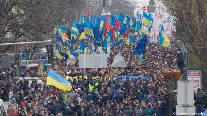 Kiew Ukraine Protest EU Regierung