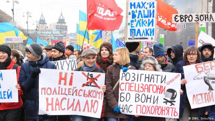 Ukraine Protest Oppositionskundgebung