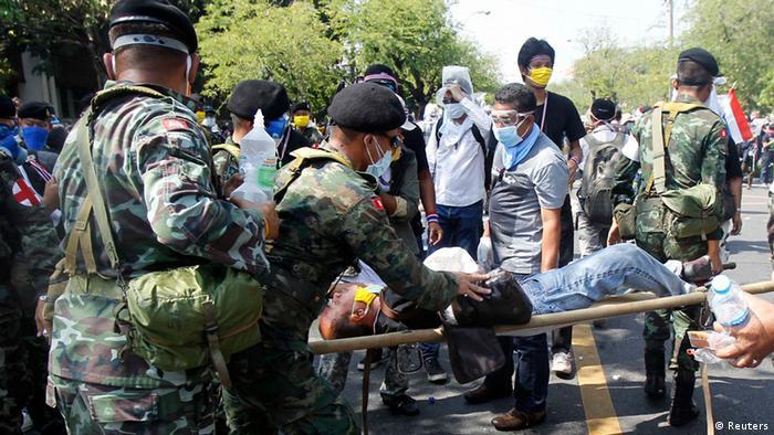 Thailand Antiregierungsproteste in Bangkok 2. Dezember