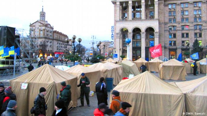 Tent city on Independence Square in Kyiv