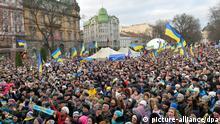 Ukraine Protest in Lemberg Lviv 2. Dezember