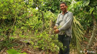 Adán Rivera ainda lembra como era o plantio e o manuseio da coca