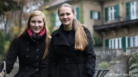 Inga Höglund from Latvia and Evgenua Belyaeva from Russland are graduates of the IMS program (photo: Sayed Musaddiq).