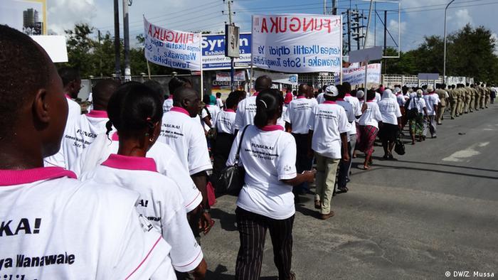 Demo against gender based violence in Dar es Salaam