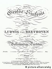 The score to Beethoven's Seventh symphony