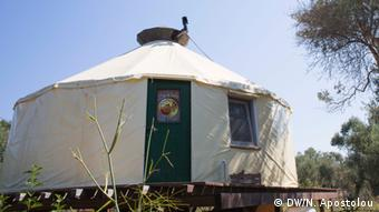 The main yurt, where the Free&Real team and volunteers sleep Copyright: DW/N. Apostolou