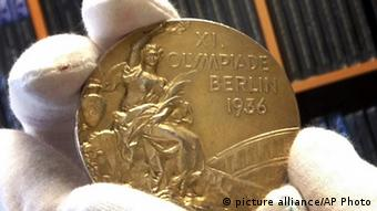 A close up of the medal. Photo: AP