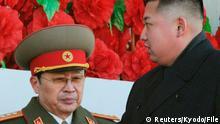 Kim Jong Un und Jang Song-Thaek Archiv
