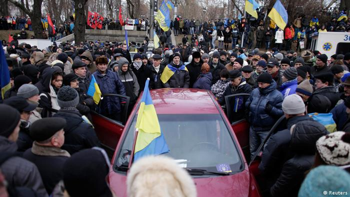 Ukraine Vertrauensabstimmung Demonstranten 03.12.2013