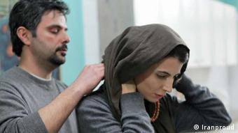 لیلا حاتمی و علی مصفا در نمایی از فیلم پله آخر به کارگردانی علی مصفا