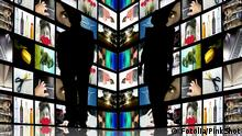 Journalists silhouettes with TV screens #20176374 - Journalists silhouettes with TV screens © PinkShot