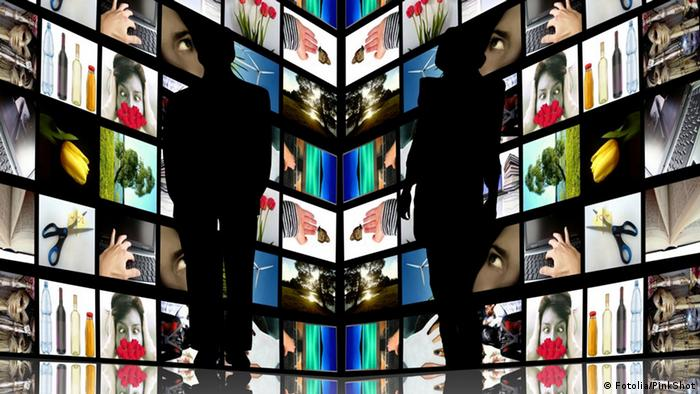 Silhouettes with TV screens, Copyright: PinkShot