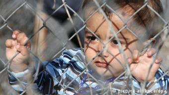 Child at Greece's Evros refugee camp Archive photo 2010
