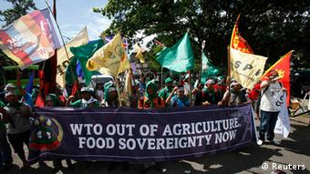 Indonesien WTO Konferenz in Bali Demonstration