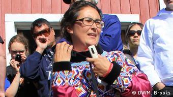 Grönland Ellen Christensen (Foto: DW/ Mark Brooks)