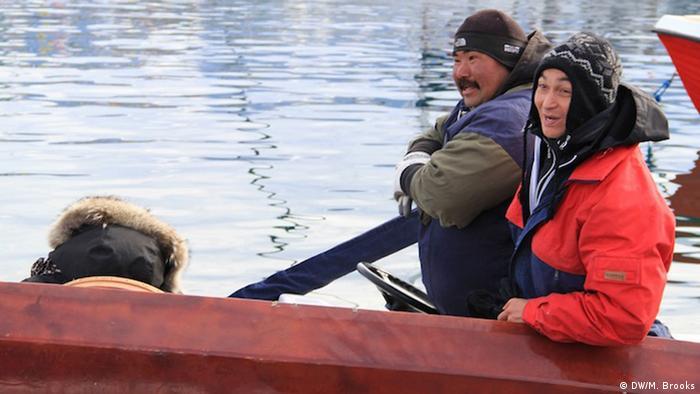 Fishermen from Uummannaq (Foto: DW/ Mark Brooks)