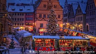 Christmas market in the medieval town of Rotheburg ob der Tauber
