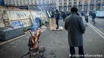 Ukraine Antiregierungsprotest in Kiew 4. Dezember Barrikaden