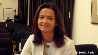 EU Erweiterung und Mazedonien Tanja Fajon MdEP (DW/S. Padori)