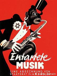 Plakat der Berliner Ausstellung Entartete Musik