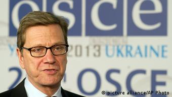 Foreign Minister Westerwelle sat the OSCE meeing in Kyiv on Dec. 5, 2013