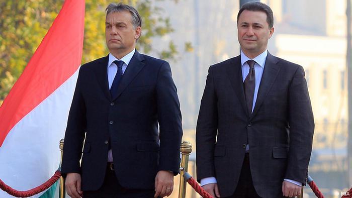 Nikola Gruevski und Viktor Orban