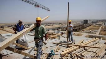 A construction site in Erbil