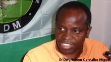 Titel: Mahamudo Amurane Schlagworte: Nampula, Mosambik, MDM, Kommunalwahlen, Bürgermeister Ort: Nampula, Mosambik Fotograf: Nelson Carvalho Miguel Datum: 21.11.2013 Beschreibung: Mahamudo Amurane von der Partei MDM - Movimento Democrático de Moçambique hat die Kommunalwahlen am 1.12.2013 in Nampula, der drittgrößten Stadt Mosambiks, gewonnen. Er wird der neue Bürgermeister und löst damit die Regierungspartei FRELIMO an der Spitze der Stadt in Nord-Mosambik ab.