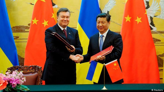 Wiktor Janukowytsch Präsident Ukraine China Besuch 05.12.2013