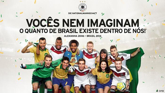 97ea629f8ff97 Seleção alemã saúda brasileiros em anúncio