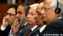 India's trade minister Anand Sharma (2nd L) listens with his delegation during a plenary session of the ninth World Trade Organization (WTO) Ministerial Conference in Nusa Dua, on the Indonesian resort island of Bali December 4, 2013. REUTERS/Edgar Su (INDONESIA - Tags: POLITICS BUSINESS)