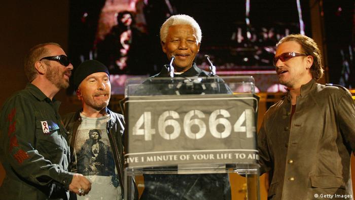Mandela Bono Konzert Greenpoint Stadium 2003
