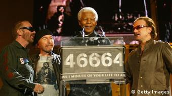 Mandela and Bono in 2003 (Photo: Getty Images)