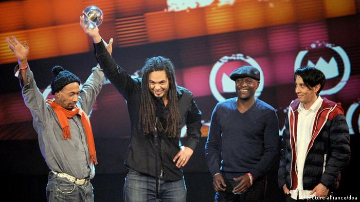 Seeed at the 1Live Krone awards (c) picture-alliance/dpa
